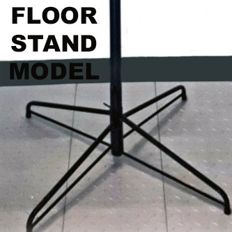 All aluminum, free standing floor stand lights
