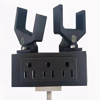 Show Off Lighting powered head stands in table top or floor stand model.