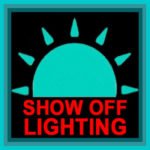 Show Off Lighting LED trade show lights logo