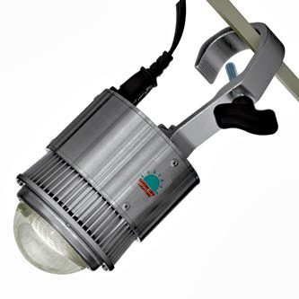 Pipe and Drape pole lighting for trade shows