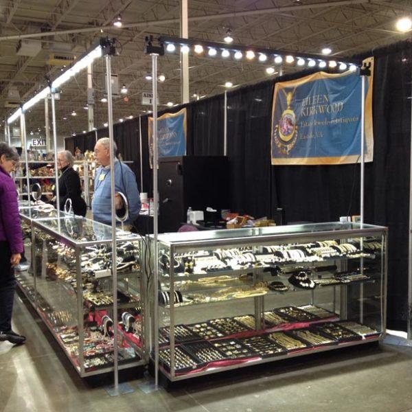 floor stand trade show lights