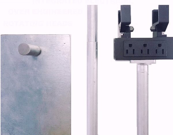 Our patented powered head poles go with our LED light Bars.