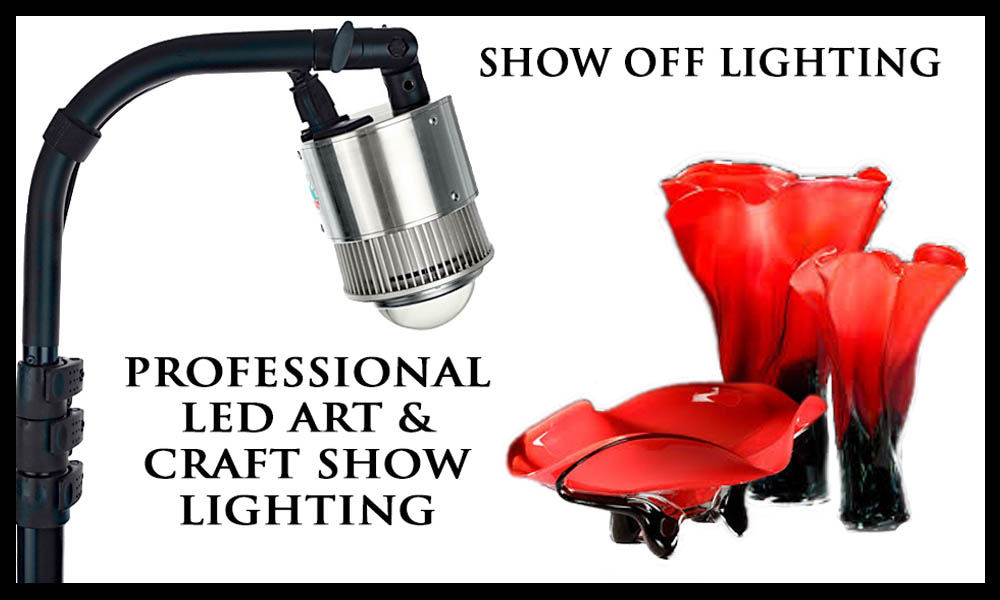 Bright, portable craft show lights