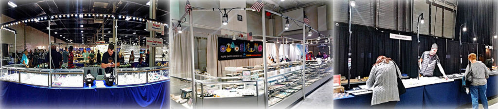 trade show booth lighting, show off lighting, trade show displays