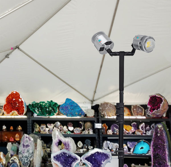 display tent lights, trade show tent lights, craft show tent lights