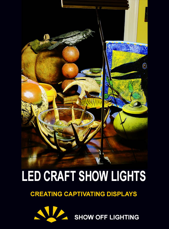 craft shows, craft show booth, craft show lights