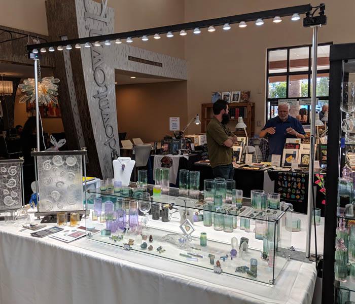 Supermarket Flower Arrangements Display Case Lighting: Top Selling Craft Show Lighting