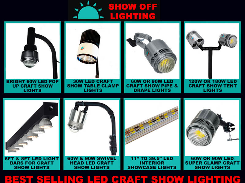 Top Selling Craft Show Lighting Led Trade Show Lighting