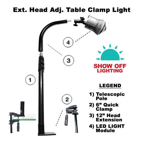 Bright LED trade show lighting