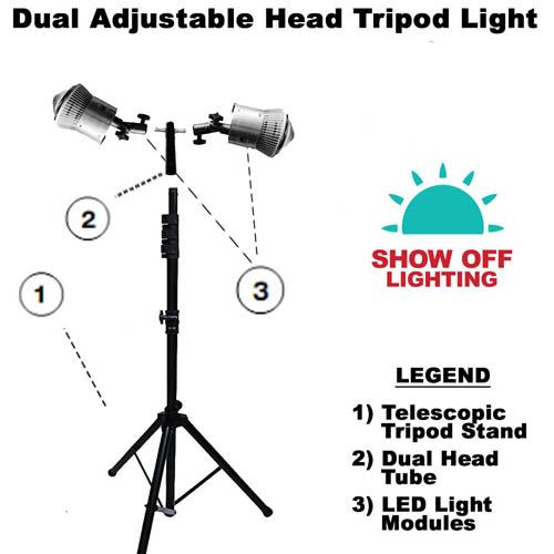 Bright trade show tent lighting