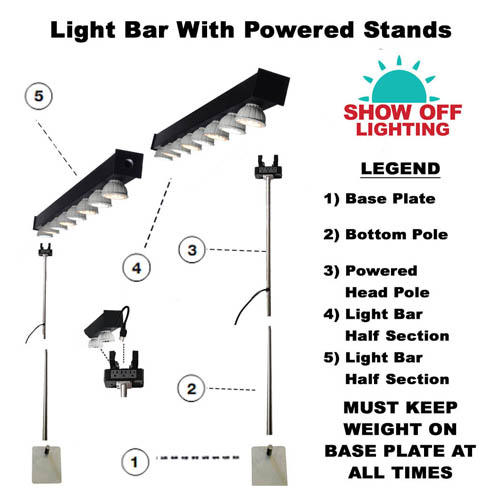 STUNNING led trade show light bars