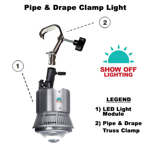 Pipe & Drape clamp lights